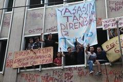 Protesta del parque de Taksim Foto de archivo libre de regalías