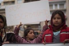 Protesta del rifugiato a Atene immagini stock
