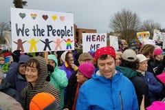Protesta del ` s marzo de las mujeres Foto de archivo libre de regalías