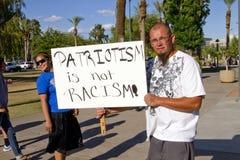 Protesta del SB 1070 de la ley de la inmigración de Arizona Fotografía de archivo