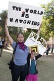 Protesta del SB 1070 de la ley de la inmigración de Arizona Imagen de archivo