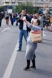 Protesta del sindacato Immagini Stock Libere da Diritti