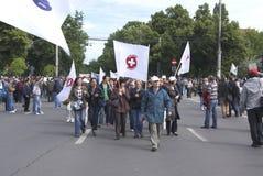 Protesta del sindacato Immagine Stock