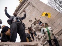 Protesta del triunfo Imagen de archivo libre de regalías