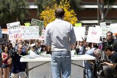 Protesta del UCLA Foto de archivo libre de regalías