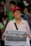 Protesta dell'orologio di tramonto per la baia di Manila, Manila Immagine Stock Libera da Diritti