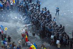 Protesta della diaspora a Bucarest contro il governo Fotografie Stock Libere da Diritti