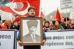 Protesta della diaspora della Turchia e dell'armeno Fotografia Stock