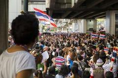 protesta della fattura di Anti-amnistia a Bangkok Fotografia Stock
