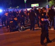 Protesta della fucilazione di Ferguson a Oakland CA Immagini Stock Libere da Diritti