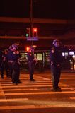 Protesta della fucilazione di Ferguson a Oakland CA Fotografia Stock Libera da Diritti