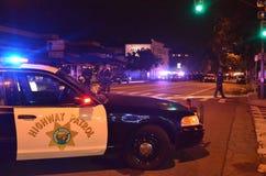 Protesta della fucilazione di Ferguson a Oakland CA Fotografia Stock