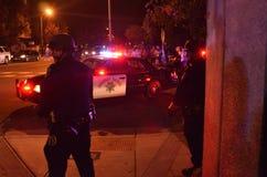 Protesta della fucilazione di Ferguson a Oakland CA Immagini Stock