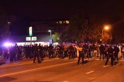 Protesta della fucilazione di Ferguson a Oakland CA Fotografie Stock Libere da Diritti
