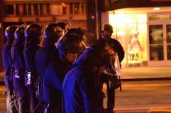 Protesta della fucilazione di Ferguson a Oakland CA Fotografie Stock