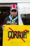 Protesta della gente tailandese a Bangkok Fotografia Stock Libera da Diritti