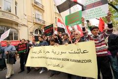 Protesta della Siria Fotografie Stock