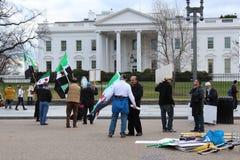 Protesta della Siria davanti alla Casa Bianca  Fotografie Stock