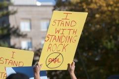 Protesta derecha de la roca en Toronto Foto de archivo libre de regalías