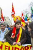 Protesta di Anti-Austerità, Parigi Immagini Stock Libere da Diritti