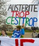 Protesta di Anti-Austerità, Parigi Fotografie Stock Libere da Diritti