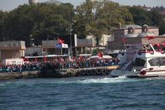 protesta di Anti-colpo in Turchia Fotografie Stock
