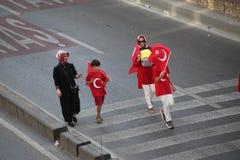 protesta di Anti-colpo in Turchia Fotografia Stock Libera da Diritti