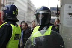 Protesta di ANTI-CUTS A LONDRA Fotografie Stock Libere da Diritti