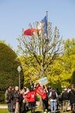 Protesta di aprile contro le riforme del lavoro in Francia Immagini Stock