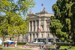 Protesta di aprile contro le riforme del lavoro in Francia Immagine Stock Libera da Diritti