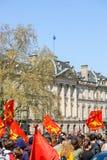 Protesta di aprile contro le riforme del lavoro in Francia Fotografia Stock Libera da Diritti