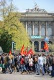 Protesta di aprile contro le riforme del lavoro in Francia Fotografia Stock