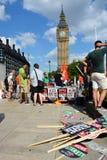 Protesta di austerità di Londra immagine stock