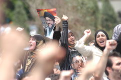 Protesta di Beirut Fotografia Stock Libera da Diritti