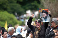 Protesta di Beirut Fotografie Stock Libere da Diritti