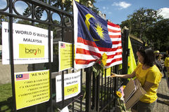 Protesta di Bersih Fotografia Stock Libera da Diritti