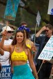 Protesta di caduta di olio Fotografia Stock