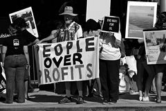 Protesta di coalizione della foresta pluviale Fotografia Stock Libera da Diritti