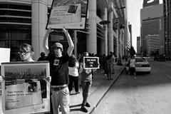 Protesta di coalizione della foresta pluviale Immagine Stock