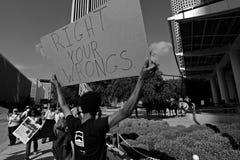 Protesta di coalizione della foresta pluviale Fotografia Stock