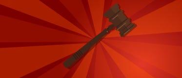 Protesta di colpo del martello del martelletto di legge forte della giustizia di propaganda rossa giudiziaria legale di legno di  Fotografie Stock