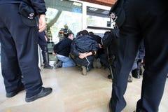 Protesta di Costantinopoli Immagini Stock