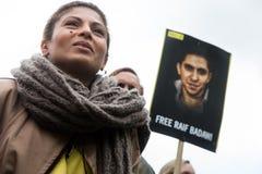 Protesta di diritti umani Fotografia Stock