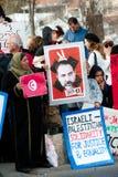 Protesta di Gerusalemme orientale fotografia stock libera da diritti