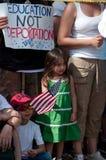 Protesta di immigrazione alla Casa Bianca  Fotografia Stock Libera da Diritti