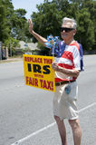 Protesta di IRS Fotografia Stock Libera da Diritti