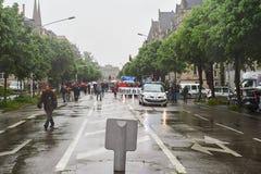 Protesta di maggio contro le riforme del lavoro della Francia Immagini Stock Libere da Diritti