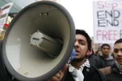 Protesta di Palastine Fotografia Stock Libera da Diritti