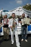 Protesta di Parigi contro le espulsioni di Roma Immagini Stock Libere da Diritti