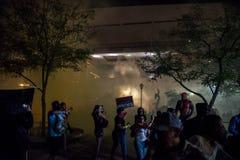 Protesta di raduno di Phoenix Trump Fotografia Stock